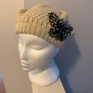 Butterfly knit hat 🦋
